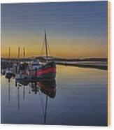 Irvine Harbour Scotland At Dusk Wood Print
