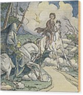 Irving: Sleepy Hollow, 1849 Wood Print