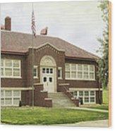 Irvington School Wood Print