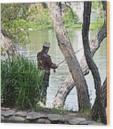 Is The Fisherman Real? Wood Print