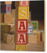 Isaac - Alphabet Blocks Wood Print
