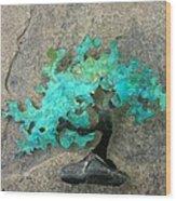 Ishitsuki Copper Bonsai Wood Print