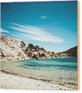 Isla Del Sol On The Titicaca Lake Wood Print