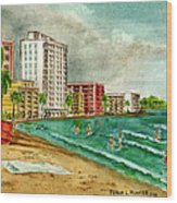 Isla Verde Beach San Juan Puerto Rico Wood Print