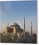 Islamic Mosque At Sunset Istanbul Wood Print by Mark Thomas