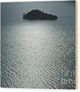Lugu Lake Island And Ripples China Wood Print