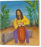 Island Beat Wood Print