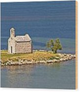 Island Church By The Sea Wood Print by Brch Photography