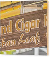 Island Cigar Factory Key West - Panoramic - Hdr Style Wood Print