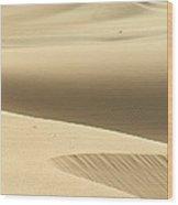 Island Desert Dunes Wood Print