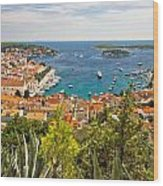 Island Of Hvar Scenic Coast Wood Print