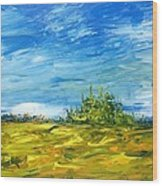 Island Of Pines - Interlake Field Wood Print