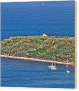 Island Of Susak Cape Church Wood Print