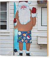 Island Santa Wood Print