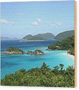Island Shore Trunk Bay Wood Print