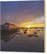 Island Sunset Wood Print