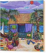 Island Time Wood Print by Patti Schermerhorn