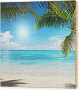 Islands In The Caribbean Sea Wood Print