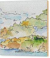 Islands In The Sun Wood Print