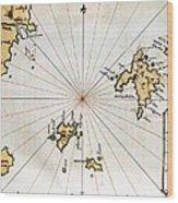 Islario General De Todas Las Islas Del Wood Print
