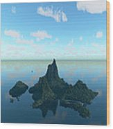 Isle And Sea... Wood Print