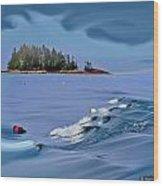 Isle Au Haut Dream Wood Print
