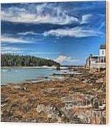 Isle Au Haut House Wood Print