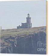 Isle Of May Lighthouse's Wood Print