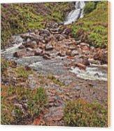 Isle Of Skye Waterfall Wood Print
