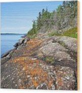 Isle Royale Rocky Shoreline Wood Print