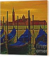 Isola Di San Giorgio Maggiore In Venice Wood Print by Al Bourassa