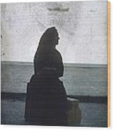 Isolated Woman Wood Print