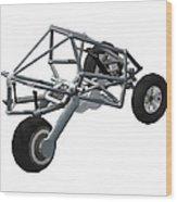 Isometric Lean Frame Transformer Transporter Wood Print