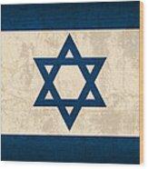 Israel Flag Vintage Distressed Finish Wood Print