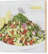 Israeli Salad  Wood Print