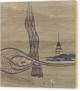 Istanbul Wood Print by Ayhan Altun