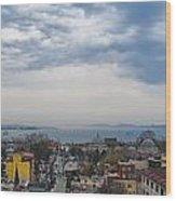 Istanbul Panorama Hdr Wood Print