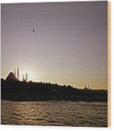 Istanbul Sunset Wood Print