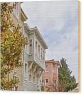 Istanbul Wooden Houses 01 Wood Print