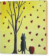 It Must Be Love By Shawna Erback Wood Print