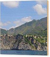 Italian Coastline Wood Print