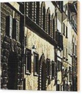 Italian Facades  Wood Print