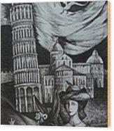 Italian Fantasies. Pisa Wood Print