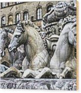 Italian Fountain Wood Print