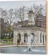 Italian Fountain In London Hyde Park Wood Print by Semmick Photo