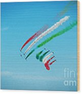 Italian Frecce Tricolori Aerobatics Team Wood Print