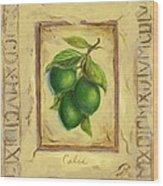 Italian Fruit Limes Wood Print