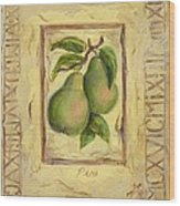 Italian Fruit Pears Wood Print