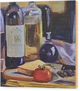 Italian Kitchen Wood Print by Donna Tuten