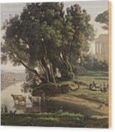Italian Landscape Wood Print